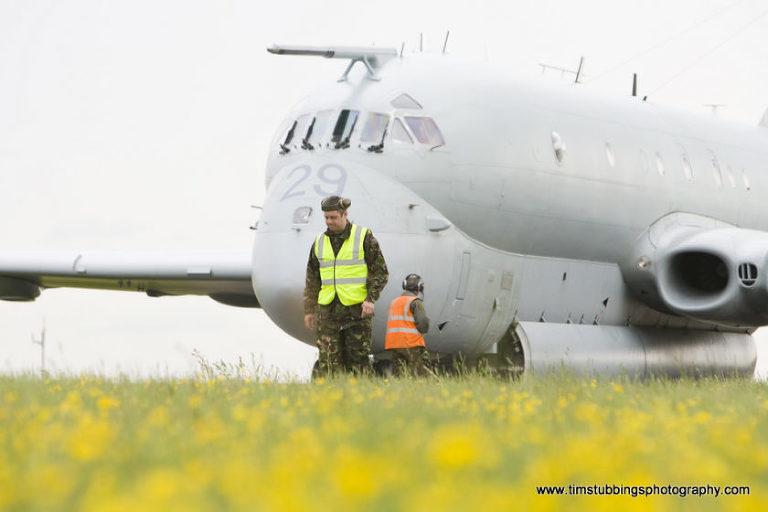Last ever RAF Nimrod flight - Manston, Kent, UK