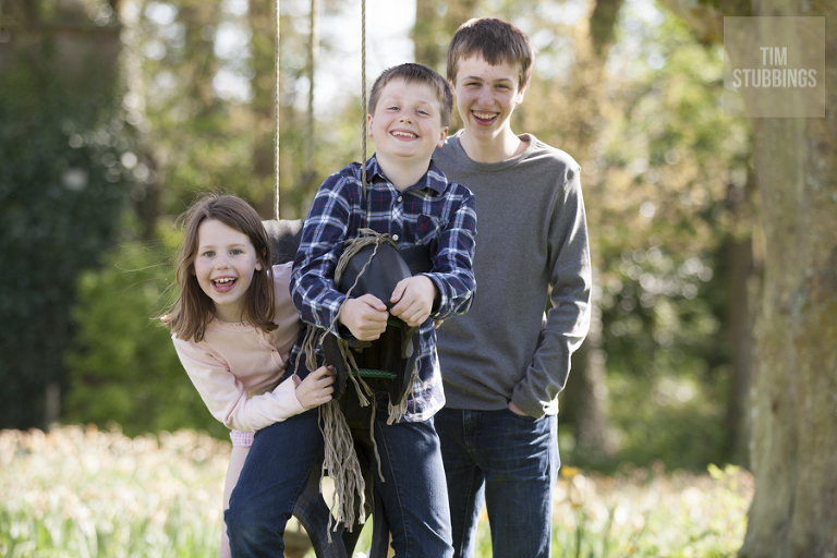 Kent family photoshoot with children on location