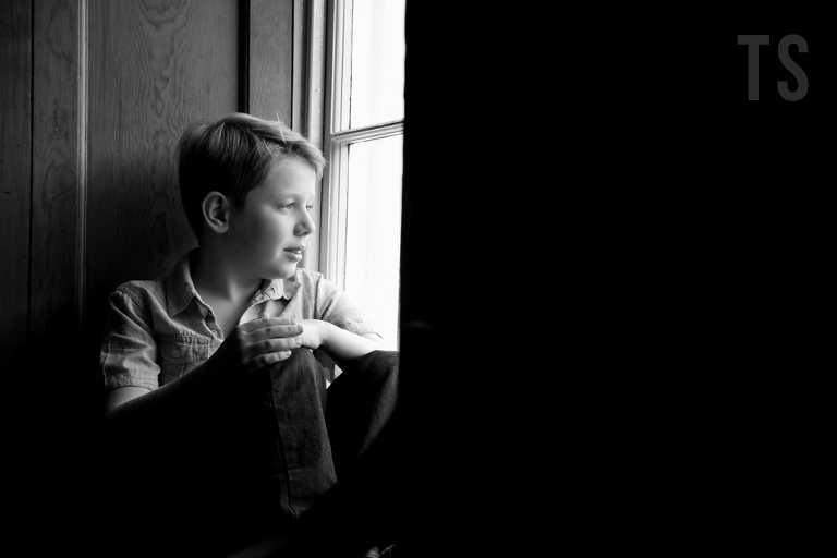 Timeless and classic black and white portraits for children and families